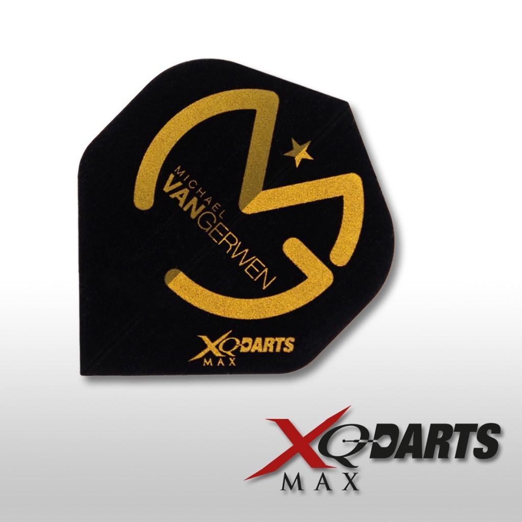 3 XQMax Michael Van Gerwen Flights Schwarz-Gold